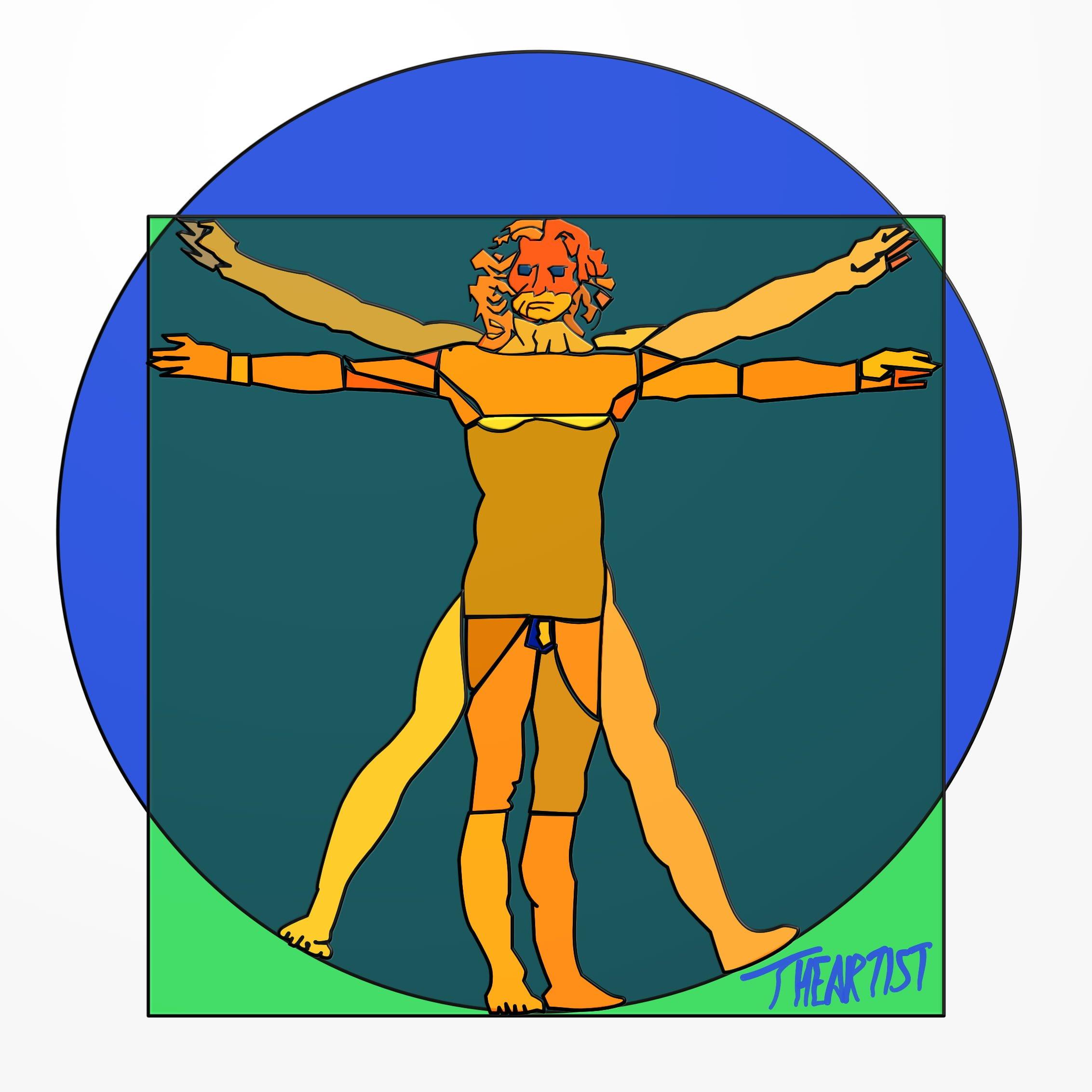 """Vitruvian Stained (""""Lumo"""" Vitruviano)"""