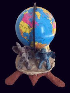 Back, non-flat earth (unpainted)